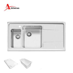 سینک ظرفشویی مدل 308 اخوان 50*100 سری R25